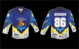 Návrh grafiky hokejového dresu Bison Sportswear