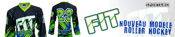 Maillot FIT roller hockey personnalisé