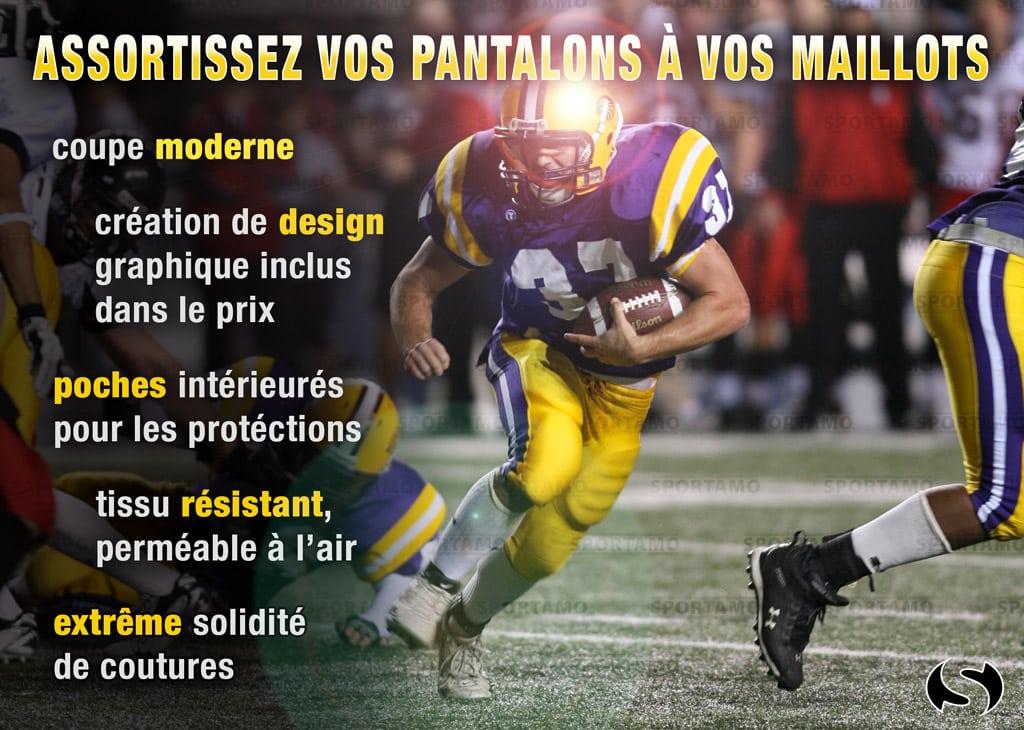 Foot américain - pantalon personnalisé